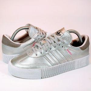 🆕 Adidas Samba Rose Silver Metallic White Sneaker